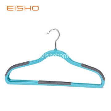 Non Slip Plastic Suits Hangers With Rubber Pieces